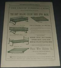 1888 Full Page Advertisement the Union Folding Cribs , Illustrated  Advertisement