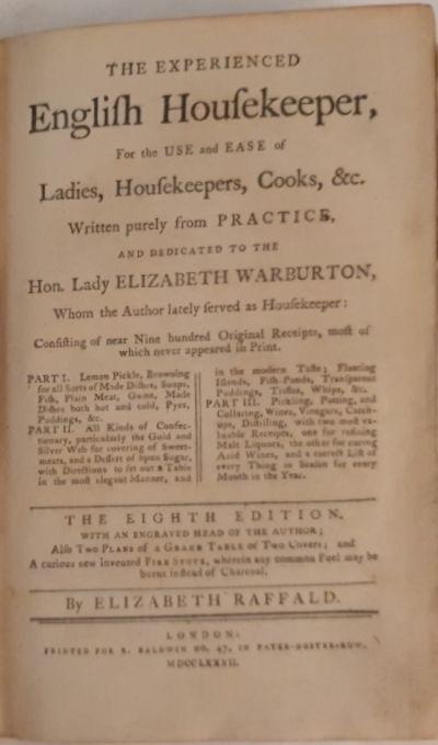 The Experienced English Housekeeper
