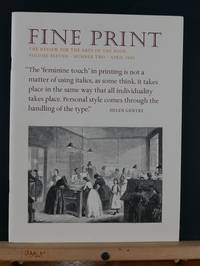 image of Fine Print: A Review for the Arts of the Book, April 1985; Vol 11, #2