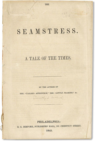 Philadelphia: R.G. Berford, 1843. First Edition. Paperback. A short tale by the immensely prolific a...
