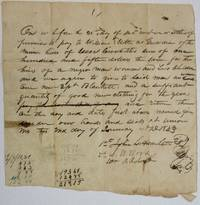 PROMISSORY NOTE IN WHICH JOHN L. HAMILTON, S.W. WOOD, AND WM. A. ROBERTSON PROMISE TO PAY WILLIAM ELLETH AS GUARDIAN OF THE NINE HEIRS OF ISAAC CROWDIN [?] THE SUM OF ONE HUNDRED FIFTEEN DOLLARS