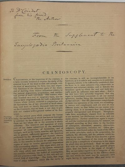 London.: Encyclopedia Britannica., . Offprints from the Encyclopedia Britannica.. Marbled boards.. V...