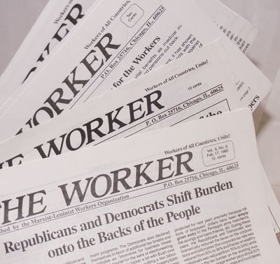 Chicago: Marxist-Leninist Workers Organization; Workers Party, 1992. Four issues of the publication,...