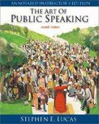 Art of Public Speaking: Annotated by Stephen E. Lucas - Hardcover - 2001-09-08 - from Books Express and Biblio.com