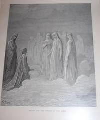 Dante and the Spirits of the Moon. Original Print. Divine Comedy.