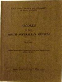 Records of the South Australian Museum Vol V No 1, August 1933 inc Aborigines of Princess Charlotte Bay Part I