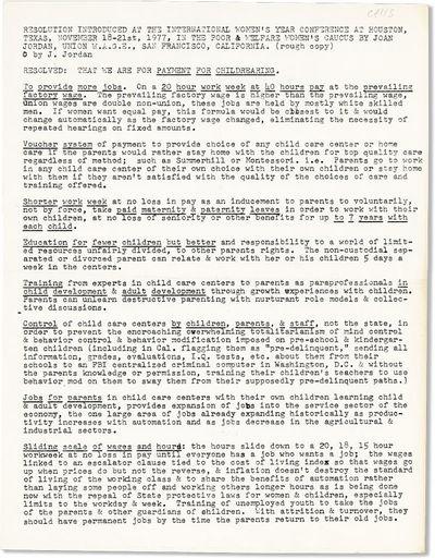 San Francisco: Union W.A.G.E., 1977. First Edition. Broadside (28cm.); printed from typescript. Prev...