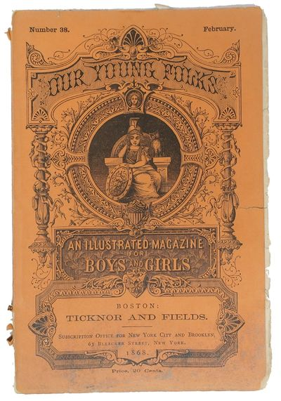 Boston: Ticknor and Fields, 1868. 1st printing. Original printed orange wrappers. Now housed in an a...