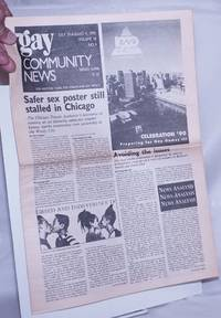 image of GCN: Gay Community News; the weekly for lesbians and gay males; vol. 18, #4, July 29 - August 4, 1990: Safer Sex Poster Stalled in Chicago_Gay Games III