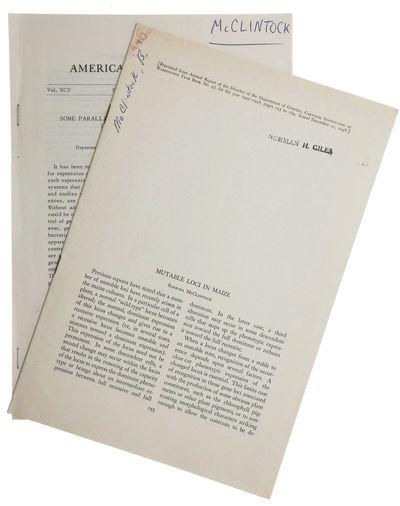 Washington, DC: Carnegie Institution, 1948. First edition. Fine. FIRST EDITION OFFPRINT of the first...