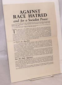 Against Race Hatred and for a Socialist Peace [manifesto]