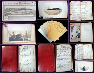 Boston, MA: F. W. Barry, Beale & Co., 1911. An unknown boatman's journal detailing the mileage, expe...