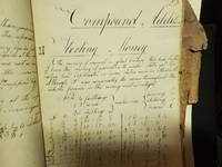 David St. Johns His Book A Cyphering book for currency conversions between the original United States 1818.