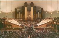 Interior of Mormon Tabernacle, Temple Square, Salt Lake City, Utah unused chrome Postcard