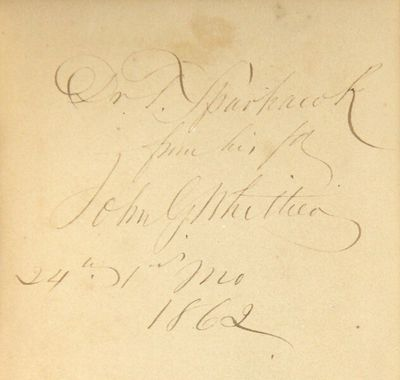 Boston: Ticknor and Fields, 1862. First edition, 8vo, pp. , 6-80; original brown cloth, BAL's bindin...