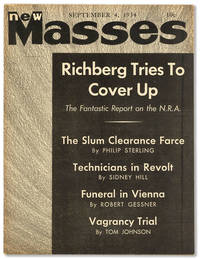 New Masses - Vol.XII, No.10 (September 4, 1934) by  et al. (contributors)  and Robert Forsythe - Paperback - First Edition - 1934 - from Lorne Bair Rare Books (SKU: 42261)
