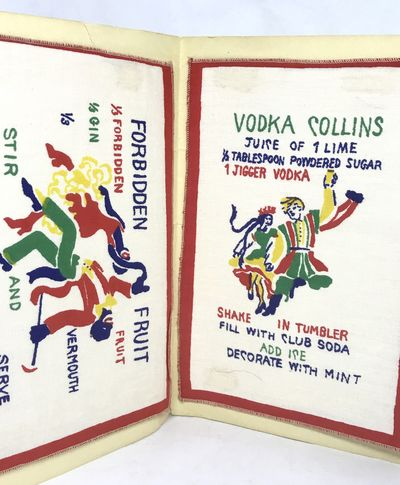 c. 1940's. Cardboard covers. Tan illustrated cardboard covers. Very good. 23 x 15.5 cm. Six (20.5 x ...