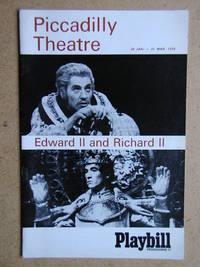 Edward II and Richard II. Theatre Programme.