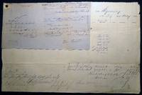 1862 Port of Philadelphia Manuscript & Printed Bill of Lading Entry of Merchandise Customs Duties for the Ship Wyoming from Liverpool for a Cargo of Bicarbonate Of Soda & Ash Imported By Yarnall & Trimble (with) Attached Additional Shipping Documents