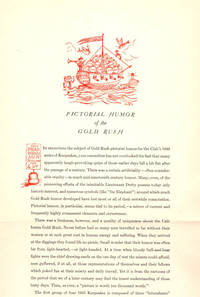 Pictorial Humor of the Gold Rush; [The Book Club of California annual keepsake]