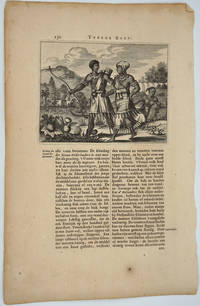 image of Native American Indians of the Hudson River, New Amsterdam.  Engraving