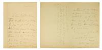Autograph letter signed to Mme Catusse concerning a recent duel fought on l'Île de la Jatte and referring to his lover Lucien Daudet.