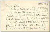 """[Autograph Letter, Signed, to """"Sir William""""]"""