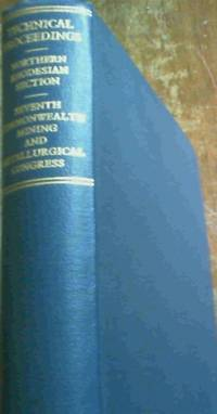 Seventh Commonwealth Mining and Metallurgical Congress Northern  Rhodesia  Section  May1961