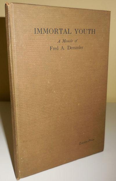 Boston: McGrath-Sherrill Press, 1919. First edition. Hardcover. Very Good. Hardbound 8vo. 54 pp. Tip...