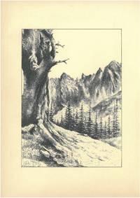 Karwendel [Nördliche Kalkalpen, Tirol, Bayern, Österreich, Deutschland], 1951. Schwarze Tusche und Bleistift auf beigem Karton. Vom Künstler l. u. mit schwarzer Tusche monogrammiert \