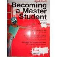 image of Becoming a Master Student: w/2010-2011 Monthly Planner, 13th edition,