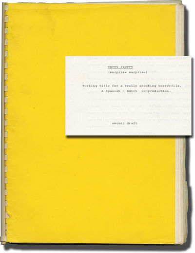 Amsterdam: Fred Hilberdink Film Productions, 1983. Second draft for an unproduced film. Noted on the...