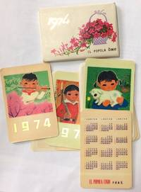 1974 / El Popola Cinio [package of eight small calendar cards]