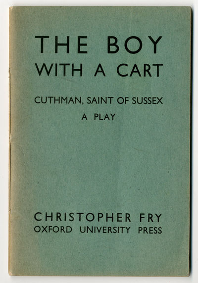 London: Humphrey Milford Oxford University Press, 1939. Sewn printed wrappers. Spine sunned, front w...