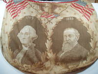 [Artifact] Color printed cotton inauguration 'draw-string bag' for Benjamin Harrison