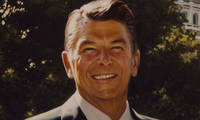 Ronald Reagan, Of Irish Descent, Quotes the Old Irish Proverb May the wind be always at your back He uses this quote on his signed official photograph as Governor