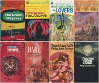 """PHILIP JOSE FARMER"" BALLANTINE FIRST EDITIONS 8 VOLUMES: The Green Odyssey / Strange Relations / The Lovers / The Alley God / Inside Outside / Dare / Time's Last Gift / Traitor to the Living"
