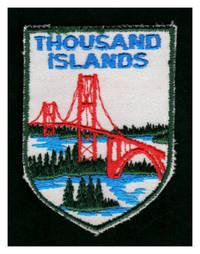 image of Vintage Thousand Island Bridge Embroidered Souvenir Patch, 2 3/4