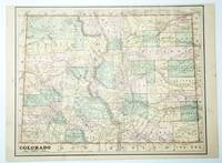 1889 Color Map of the State of Colorado