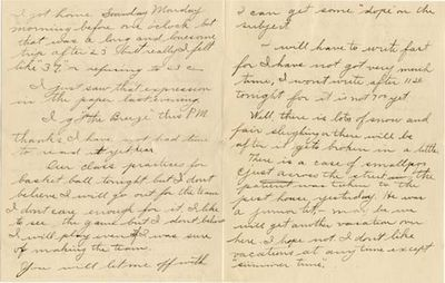 This letter was penned in 1907, just 15 years after Naismith's invention of the game. The student, n...