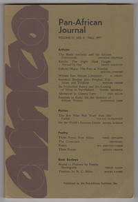 Pan-African Journal, Volume 4, Number 4 (IV, Fall 1971)