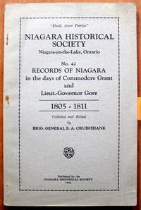 Niagara Historical Society Records of Niagara No. 42. 1805-1811.