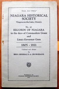 Niagara Historical Society Records of Niagara No. 42. 1805-1811. by  Editor  E.A. - Paperback - 1st Edition. - 1931 - from Ken Jackson (SKU: 249641)