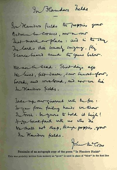 essay on in flanders fields Example of how to write a literary response essay in flanders fields by john mccrae (may 1915.