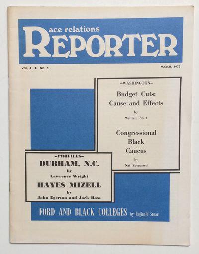 Nashville: Race Relations Information Center, 1973. 33p., staplebound wraps, 8.5x11 inches, faint co...