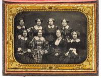 Half-Plate Portrait Daguerreotype of Eight Women