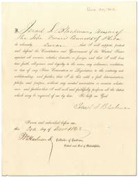 image of Civil War Loyalty Oath Signed by New Jersey Ship's Captain Israel S. Blackman