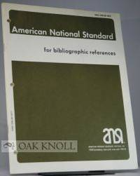 AMERICAN NATIONAL STANDARD FOR BIBLIOGRAPHIC REFERENCE