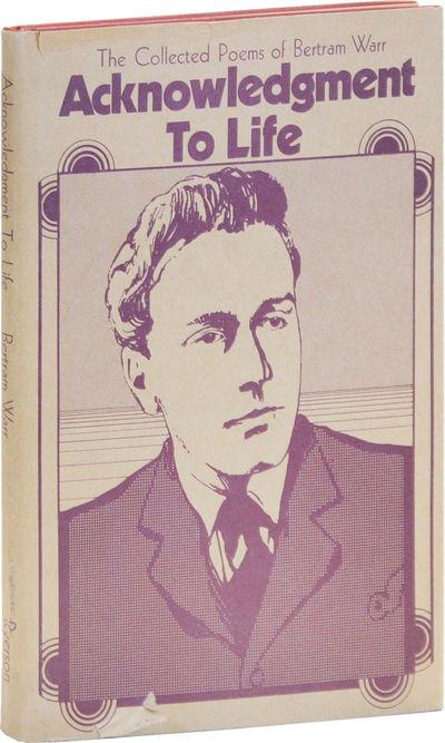 Toronto: Ryerson Press, 1970. First Edition. Cloth issue. Octavo; cloth boards; dustjacket; 92pp. Fi...