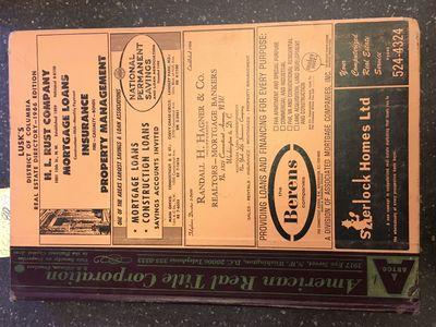 Washington, DC: Rufus S. Lusk & Son, Inc, 1966. folio, 318pp.; VG-; 1/4 bound with maroon cloth spin...
